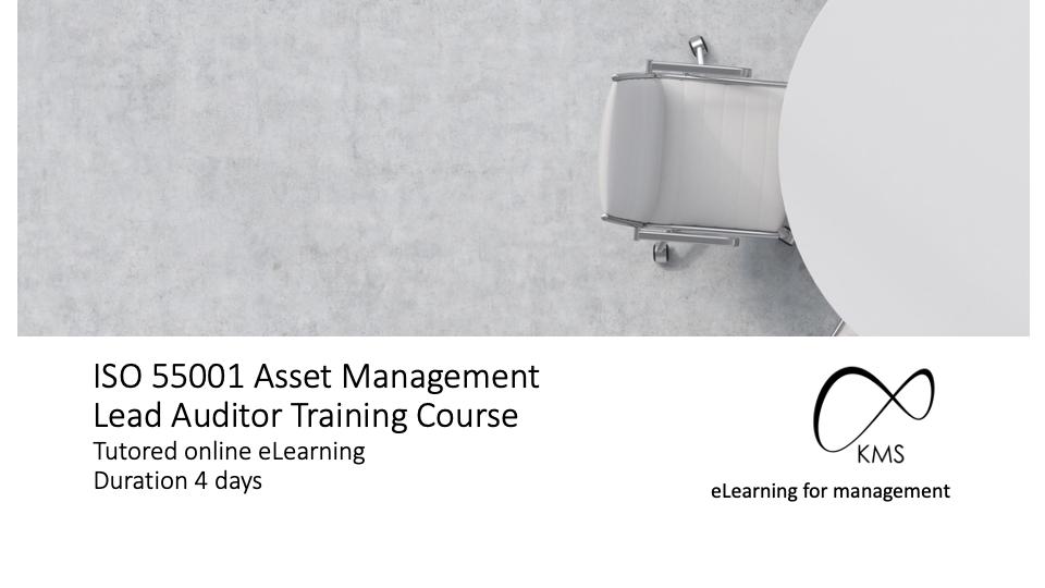 ISO 55001 asset management online lead auditor training
